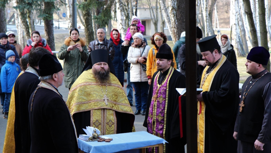 Prayer service at Mezhyhirya National Park on the occasion of the Feast of Orthodoxy